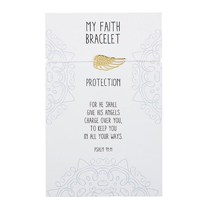"Bracelet-My Faith-Angel Wing (8"")   SHOPtheWORD"