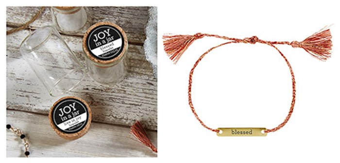 "Bracelet-Joy In A Jar-Blessed (8"") 