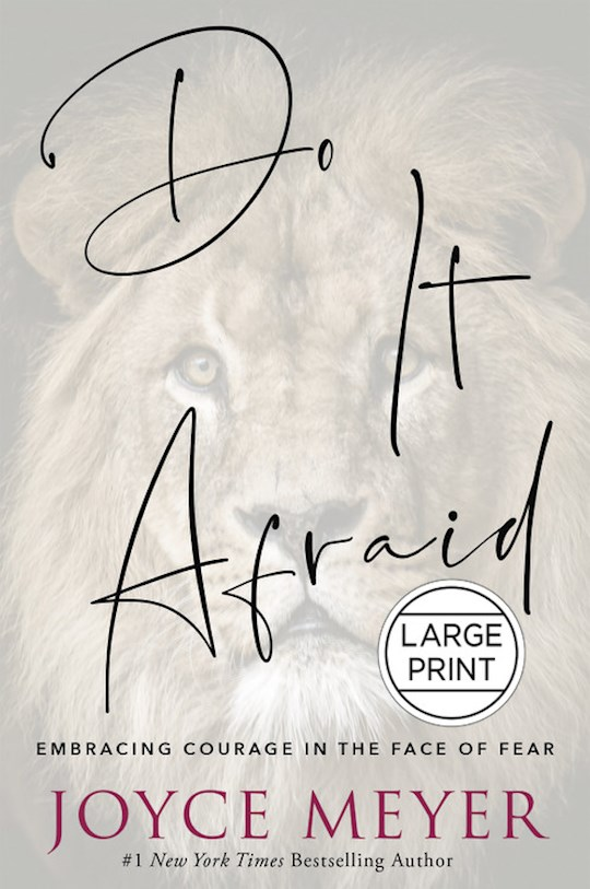 Do It Afraid Large Print by Joyce Meyer | SHOPtheWORD