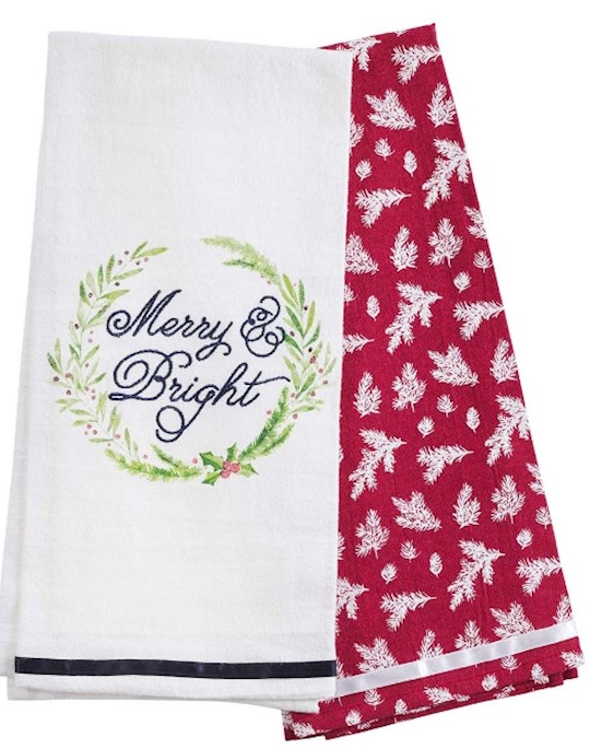 Tea Towel Set-Merry & Bright (Set Of 2)   SHOPtheWORD