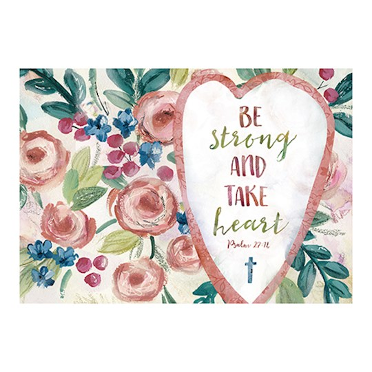Postcard-Be Strong And Take Heart (6 x 4.25) (Pack Of 6) | SHOPtheWORD