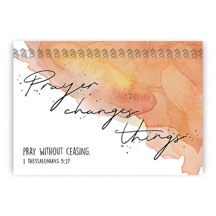 Postcard-Prayer Changes Things (6 x 4.25) (Pack Of 6) | SHOPtheWORD