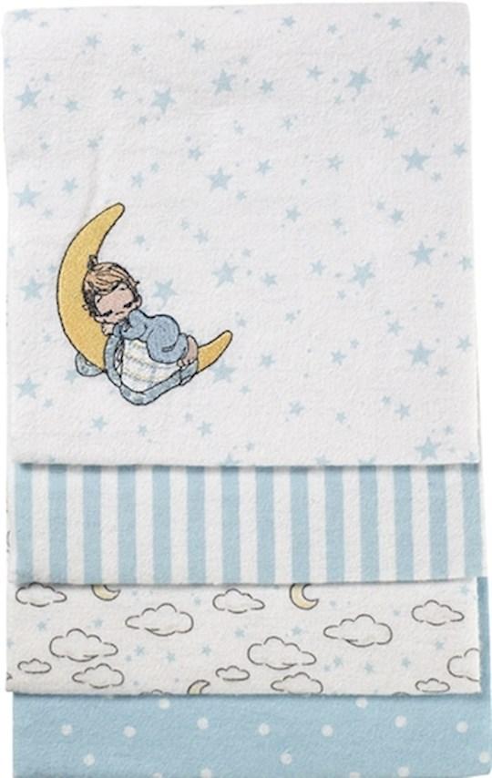 Receiving Blanket-Boy On Cloud/Blue-(Set Of 4) | SHOPtheWORD