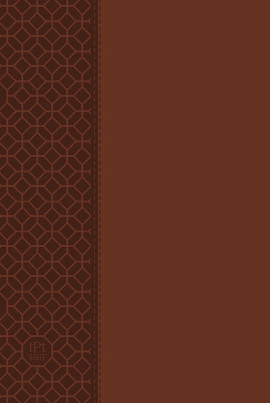 The Passion Translation New Testament With Psalms, Proverbs & Song Of Songs/Large Print (2020)-Brown Imitation Leather | SHOPtheWORD