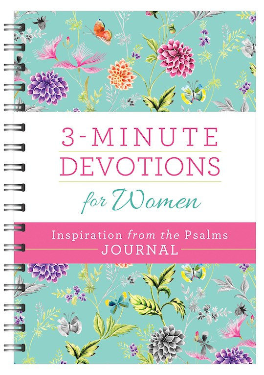 3-Minute Devotions For Women: Inspiration From The Psalms Journal by Barbour | SHOPtheWORD