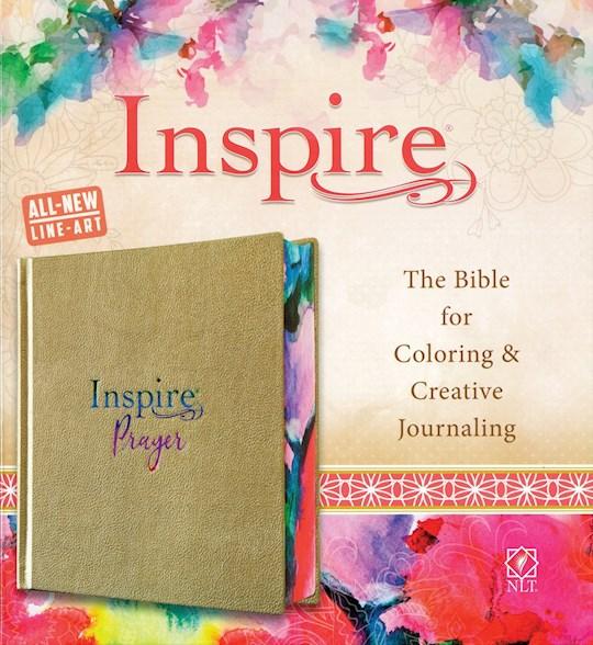NLT Inspire Prayer Bible-Metallic Champagne Gold LeatherLike   SHOPtheWORD
