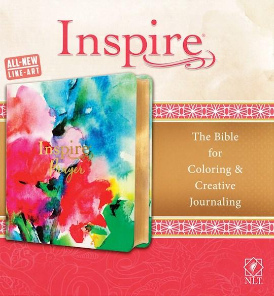 NLT Inspire Prayer Bible-Joyful Colors w/Gold Foil Accents LeatherLike   SHOPtheWORD