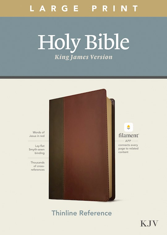 KJV Large Print Thinline Reference Bible/Filament Enabled Edition-Brown/Mahogany LeatherLike | SHOPtheWORD