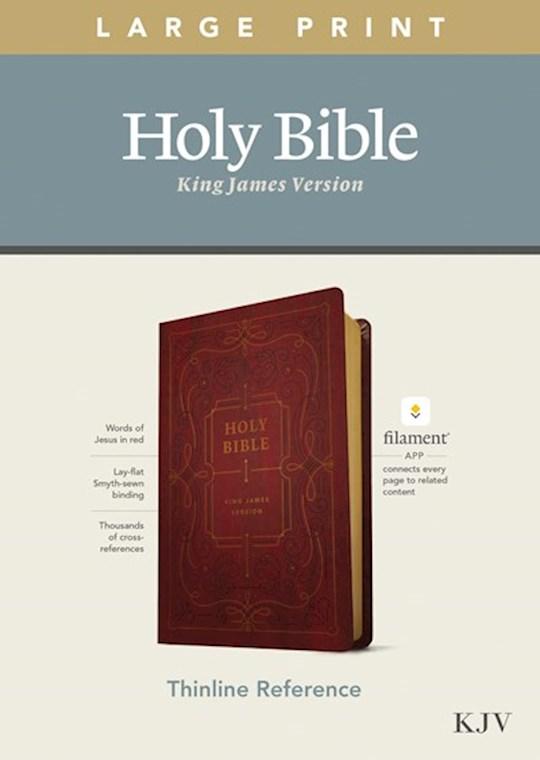 KJV Large Print Thinline Reference Bible/Filament Enabled Edition-Burgundy LeatherLike  | SHOPtheWORD