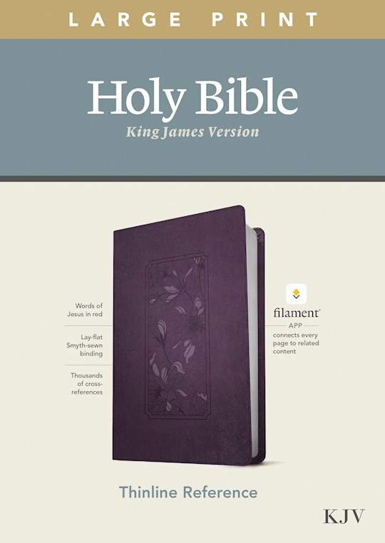 KJV Large Print Thinline Reference Bible/Filament Enabled Edition-Purple Floral LeatherLike | SHOPtheWORD
