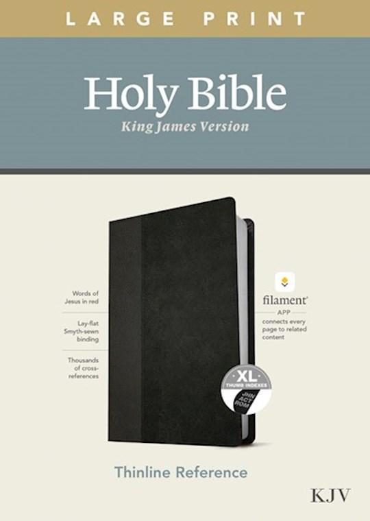 KJV Large Print Thinline Reference Bible/Filament Enabled Edition-Black/Onyx LeatherLike Indexed | SHOPtheWORD