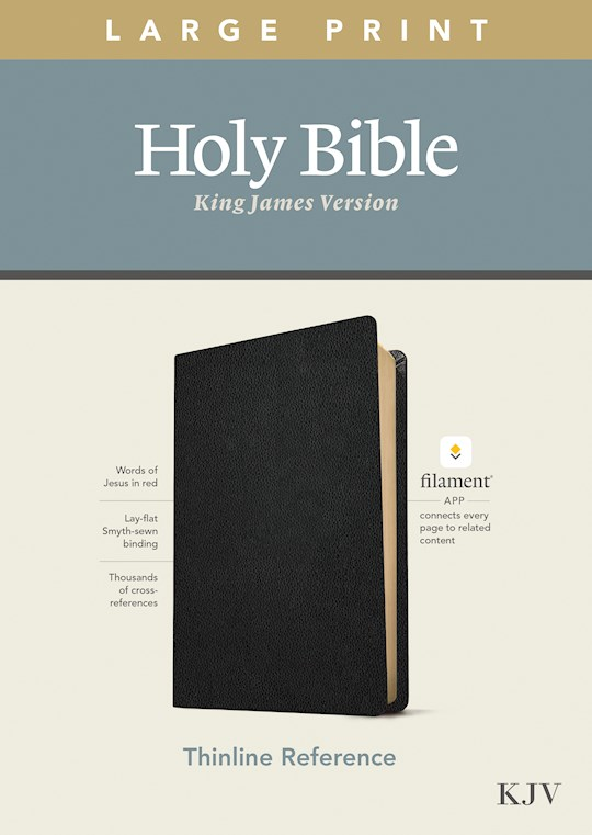 KJV Large Print Thinline Reference Bible/Filament Enabled Edition-Black Genuine Leather | SHOPtheWORD