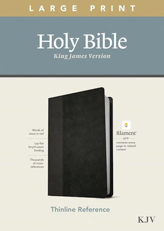 KJV Large Print Thinline Reference Bible/Filament Enabled Edition-Black/Onyx LeatherLike    SHOPtheWORD