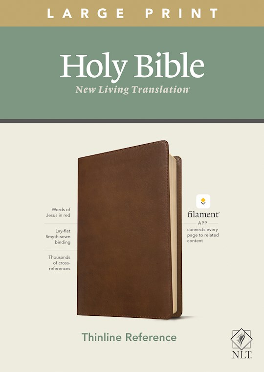 NLT Thinline Reference/Large Print Bible/Filament Enabled Edition-Rustic Brown LeatherLike | SHOPtheWORD