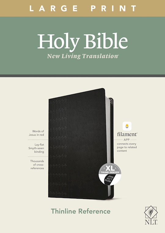 NLT Thinline Reference/Large Print Bible/Filament Enabled Edition-Black LeatherLike Indexed | SHOPtheWORD