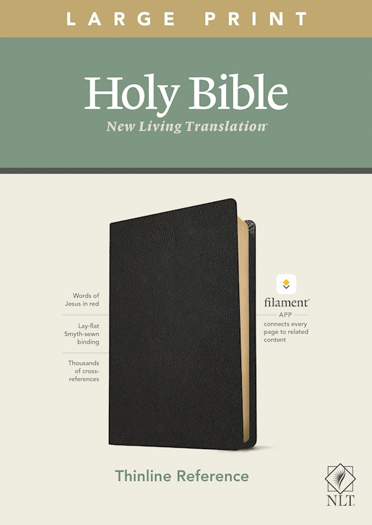 NLT Thinline Reference/Large Print Bible/Filament Enabled Edition-Black Genuine Leather  | SHOPtheWORD