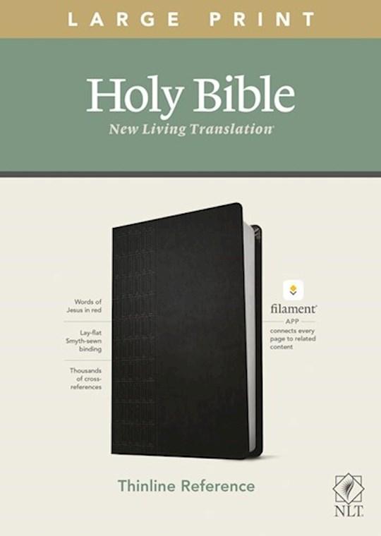 NLT Thinline Reference/Large Print Bible/Filament Enabled Edition-Black LeatherLike | SHOPtheWORD