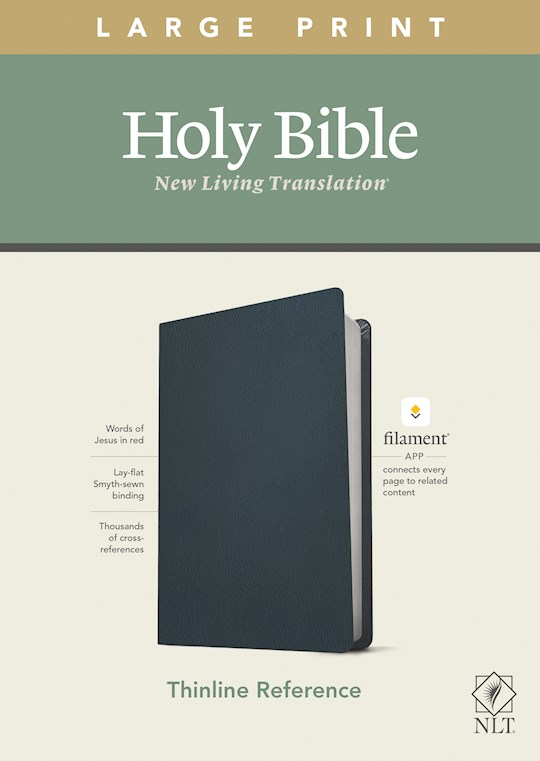NLT Thinline Reference/Large Print Bible/Filament Enabled Edition-Blue Genuine Leather | SHOPtheWORD