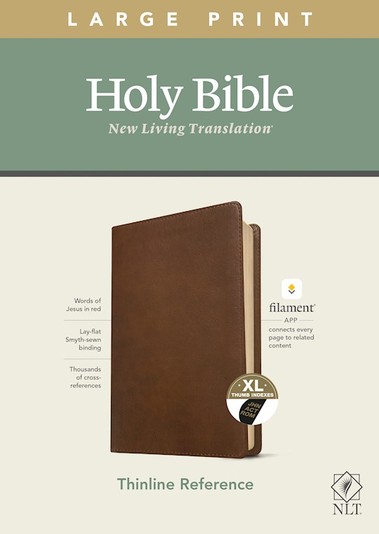 NLT Thinline Reference/Large Print Bible/Filament Enabled Edition-Rustic Brown LeatherLike Indexed | SHOPtheWORD