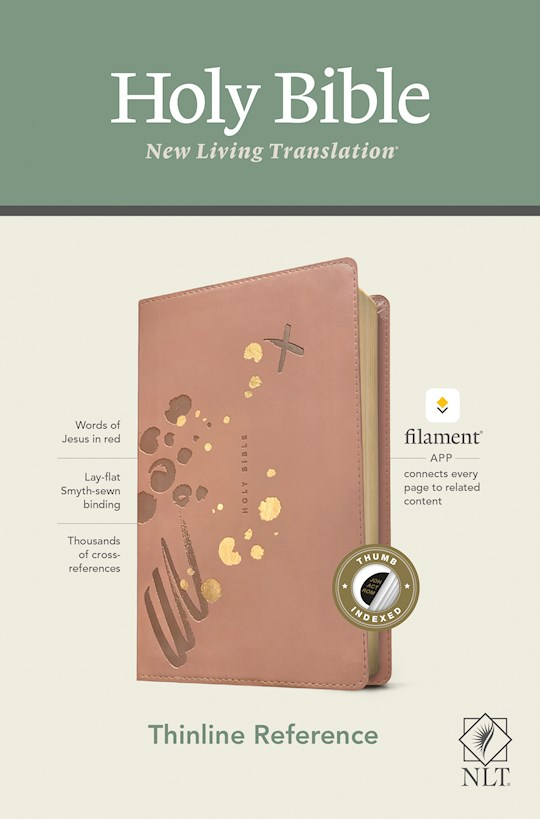 NLT Thinline Reference Bible/Filament Enabled Edition-Pink LeatherLike Indexed | SHOPtheWORD