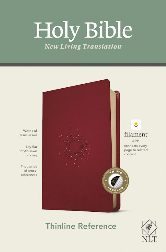 NLT Thinline Reference Bible/Filament Enabled Edition-Berry LeatherLike Indexed | SHOPtheWORD