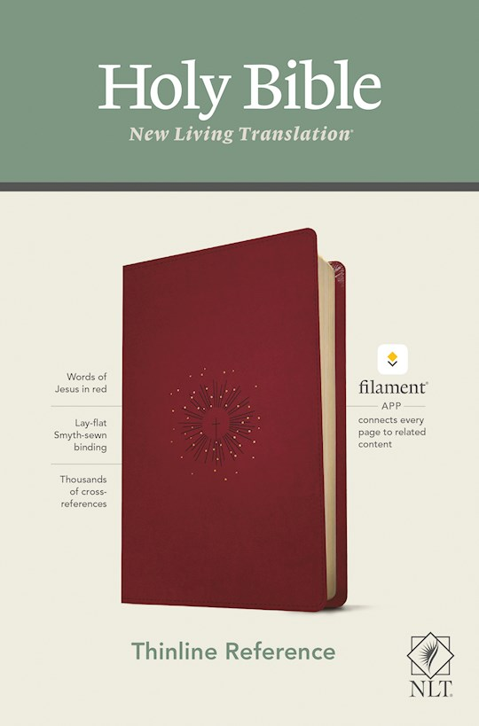 NLT Thinline Reference Bible/Filament Enabled Edition-Berry LeatherLike | SHOPtheWORD