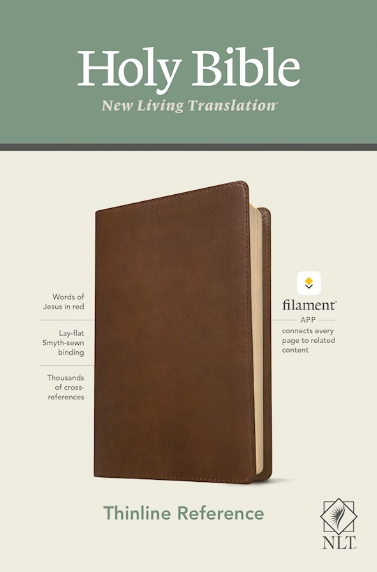 NLT Thinline Reference Bible/Filament Enabled Edition-Rustic Brown LeatherLike | SHOPtheWORD