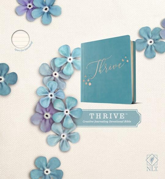 NLT Thrive Bible-Teal Blue w/Rose Gold Hardcover | SHOPtheWORD