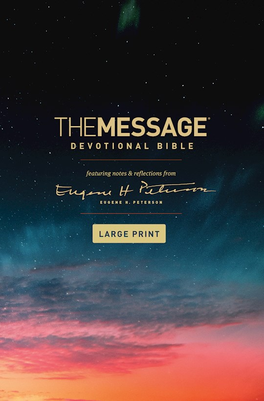 The Message/Large Print Devotional Bible-Hardcover | SHOPtheWORD