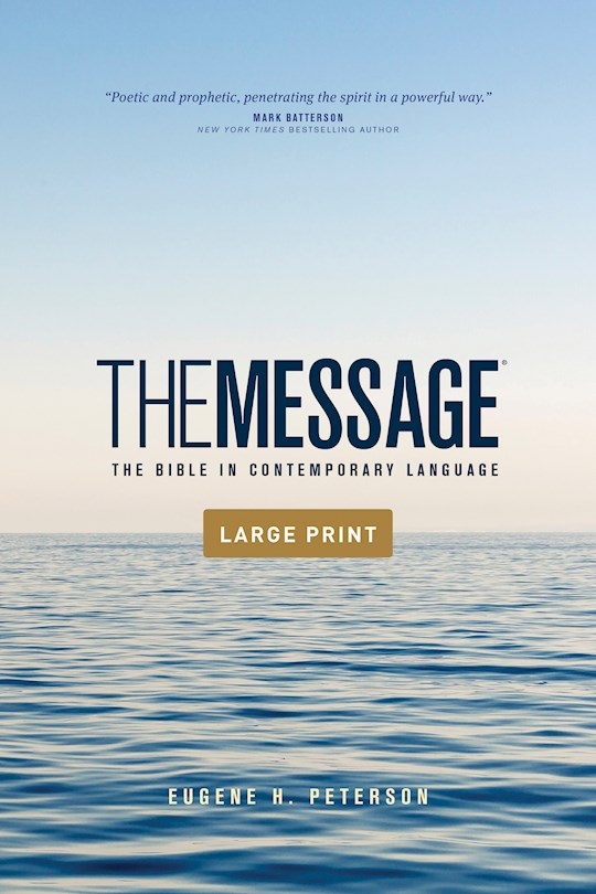 The Message Outreach Bible/Large Print-Softcover | SHOPtheWORD
