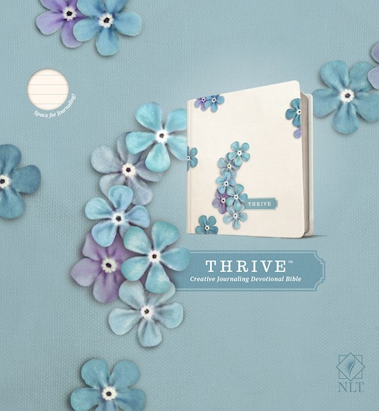 NLT Thrive Bible-Blue Floral Hardcover | SHOPtheWORD