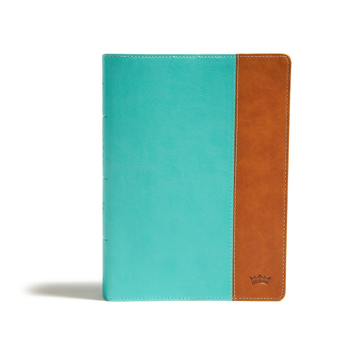 CSB Tony Evans Study Bible-Teal/Earth LeatherTouch | SHOPtheWORD