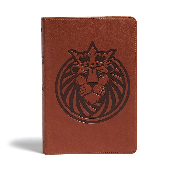 KJV Kids Bible-Brown Lion LeatherTouch | SHOPtheWORD