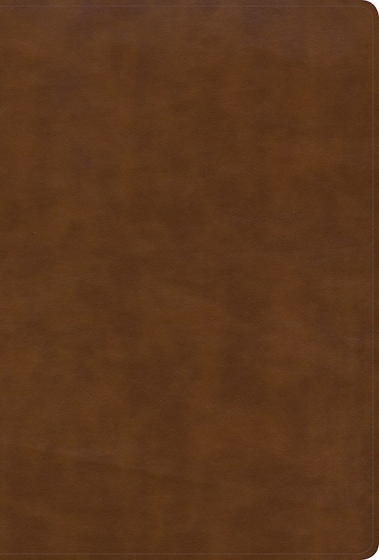 KJV Large Print Ultrathin Reference Bible-British Tan LeatherTouch Indexed (Black Letter) (Oct) | SHOPtheWORD