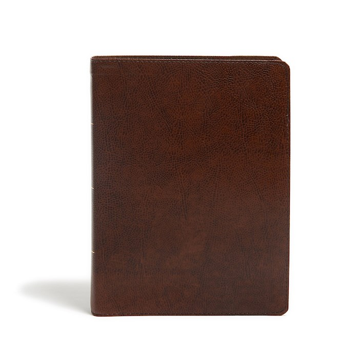 KJV Study Bible (Full-Color)-Brown Bonded Leather Indexed (Nov) | SHOPtheWORD