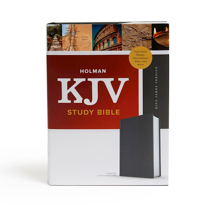 KJV Study Bible (Full-Color)-Charcoal Cloth-Over-Board (Nov) | SHOPtheWORD