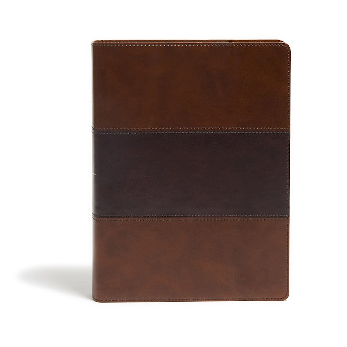 KJV Study Bible (Full-Color)-Saddle Brown LeatherTouch Indexed | SHOPtheWORD