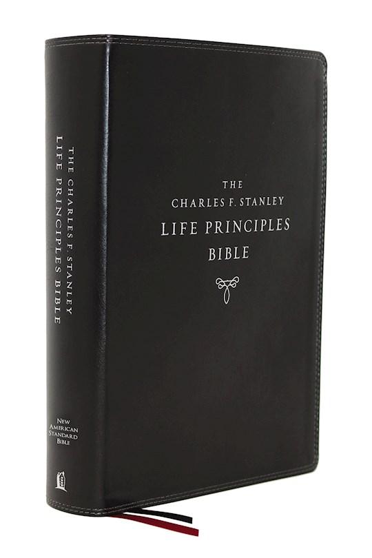 NASB Charles F. Stanley Life Principles Bible (2nd Edition) (Comfort Print)-Black Leathersoft   SHOPtheWORD