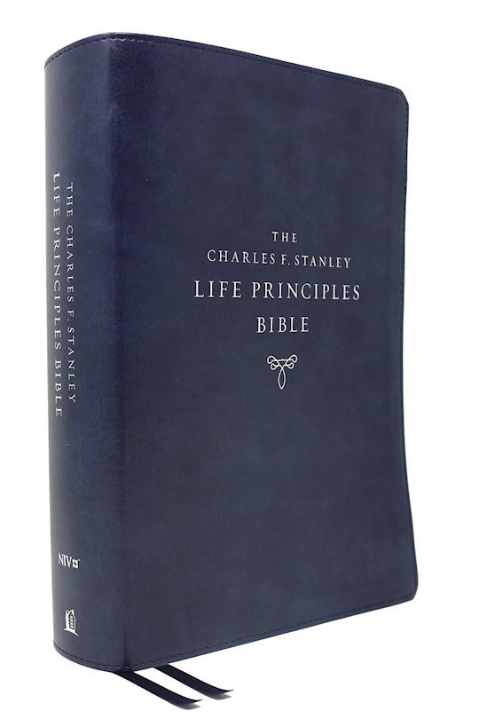 NIV Charles F. Stanley Life Principles Bible (2nd Edition) (Comfort Print)-Blue Leathersoft    SHOPtheWORD