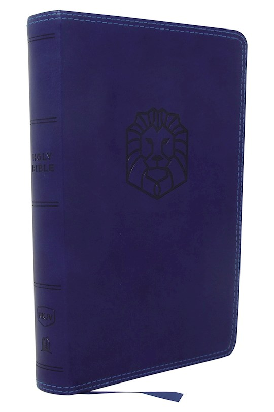NKJV Holy Bible For Kids (Comfort Print)-Blue Leathersoft | SHOPtheWORD