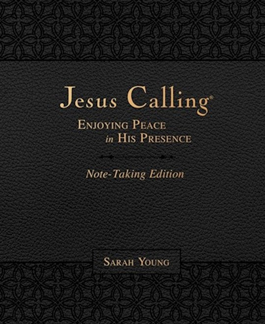 Jesus Calling Note-Taking Edition-Black LeatherSoft by Sarah Young | SHOPtheWORD
