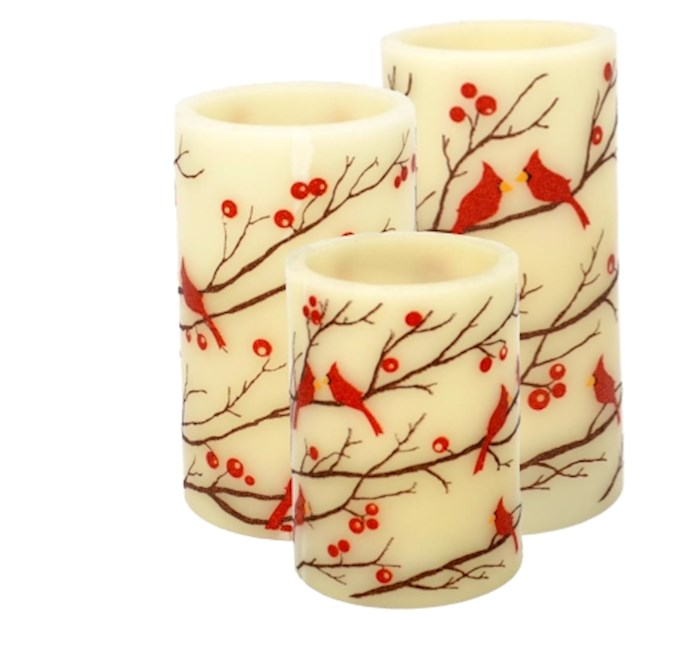 Candle Set-Cardinals (3 Pieces) | SHOPtheWORD