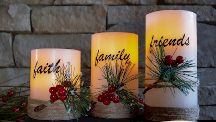 Candle Set-Faith, Family, Friends LED (3 Pieces) | SHOPtheWORD