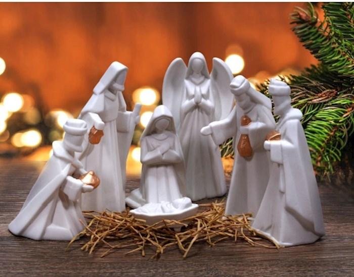 "Nativity Set-7 Piece Porcelain (7"") | SHOPtheWORD"