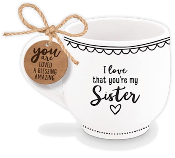 Ceramic Mug-Artisan Doodles-Sister-Phil 1:7 (#18673) | SHOPtheWORD
