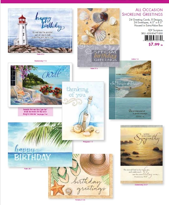 Card-Boxed-Value-All Occasion Shoreline Greetings (Box Of 24)  | SHOPtheWORD