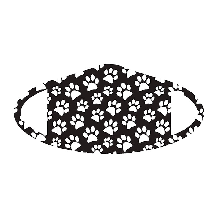 Face Mask-Paw Print (One Size/Snug Fit) | SHOPtheWORD