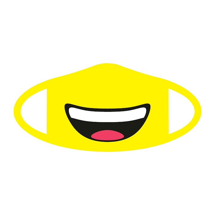 Face Mask-Emoji Smiling (One Size/Snug Fit) | SHOPtheWORD