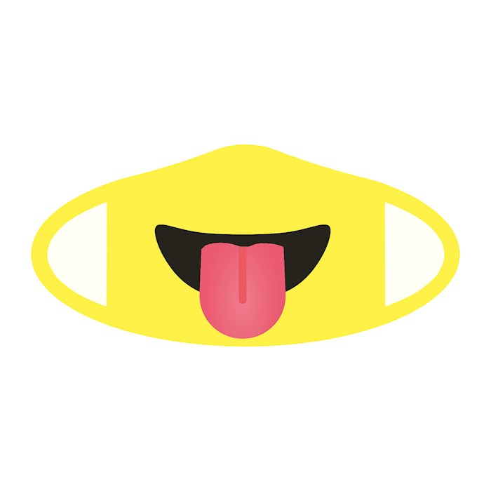 Face Mask-Emoji Tongue (One Size/Snug Fit) | SHOPtheWORD