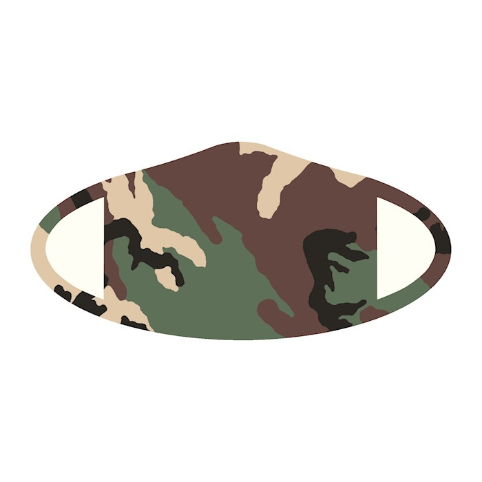 Face Mask-Green Camo (One Size/Snug Fit) | SHOPtheWORD